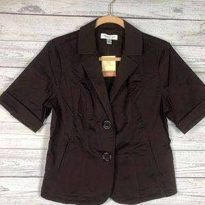 Coldwater Creek 8 Dark Brown blazers B10